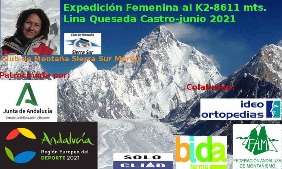 Expedición femenina al K2 (8611m) de Lina Quesada Castro-junio 2021